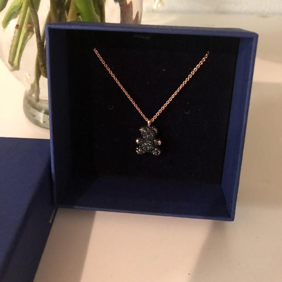 NWOT SWAROVSKI teddy bear necklace